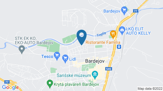 Hotel Bardejov Map