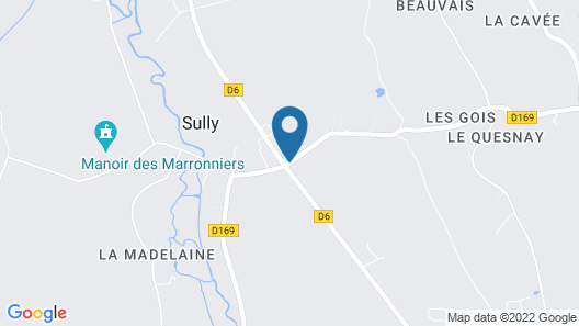 Chateau De Sully Map