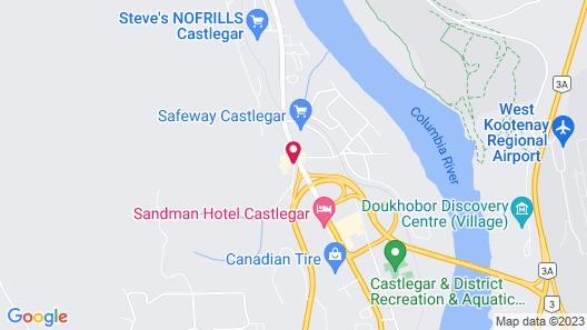 SureStay Hotel by Best Western Castlegar Map
