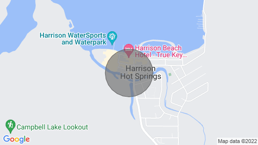 Modern Boho: ❣Steps to Harrison Lake| Queen Bed | FREE Parking❣ Map
