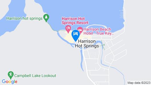 Harrison Lake Cottages Map