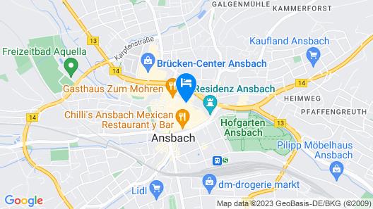 Hotel & Restaurant Schwarzer Bock Map