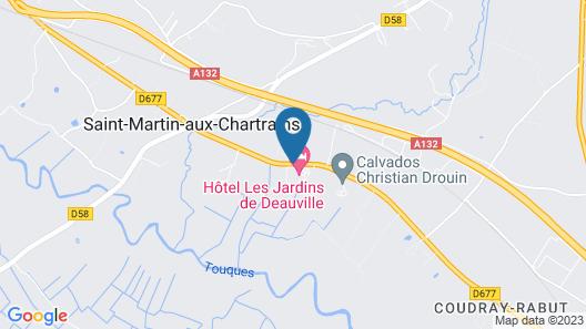 Les Jardins de Deauville Map