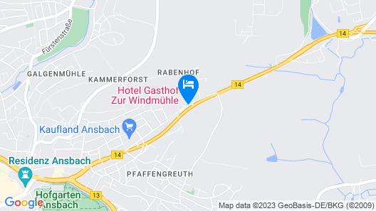 Hotel Gasthof zur Windmühle Map