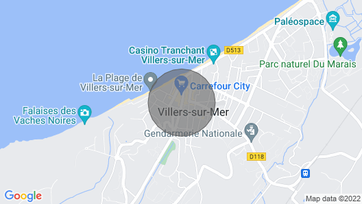 Rental Apartment Center Villers sur Mer 4pers Map
