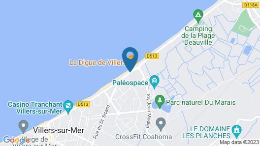 Hotel ibis Styles Deauville Villers Plage Map