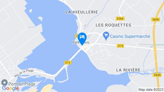 Le Cotentin Appart'hôtels & Restaurant 'le Cot' Map