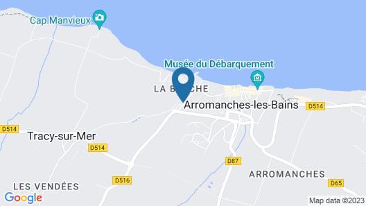 Les Villas d'Arromanches Map
