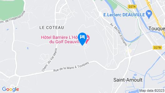 Hôtel Barrière L'Hôtel du Golf Deauville Map