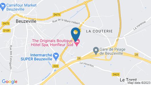 The Originals Boutique, Hôtel Spa, Honfleur Sud (Inter-Hotel) Map