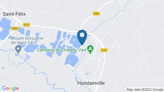 Camping Du Chateau Vert Map