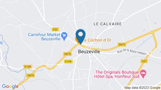 Hôtel & Spa Le Petit Castel Beuzeville-Honfleur Map