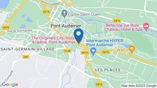 The Originals City, Hôtel Acadine, Pont-Audemer Map