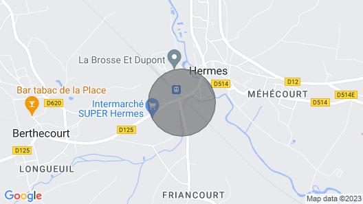 Apartment Saint-louis Hermes Map