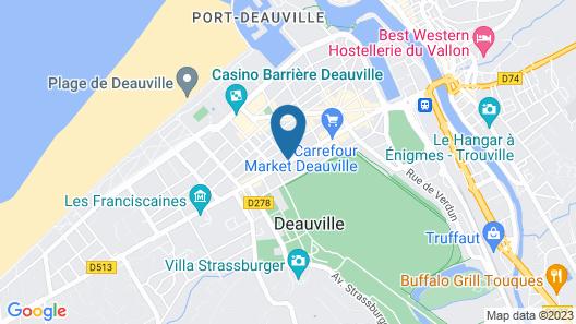 La Closerie Deauville Map