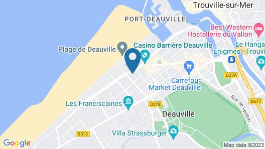 Hôtel Barrière Le Royal Deauville Map