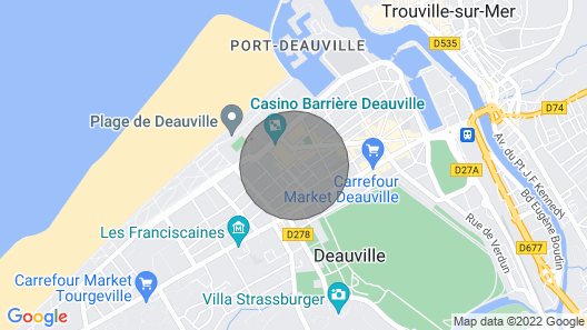 Charming House in the Heart of Deauville Map