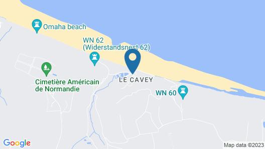 Belambra Clubs Colleville-sur-Mer - Omaha Beach Map