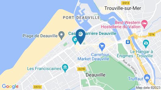 Hôtel Barrière Le Normandy Deauville Map