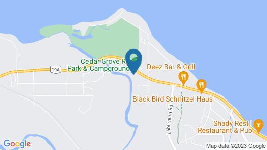 Cedar Grove Motel and Cabins Map