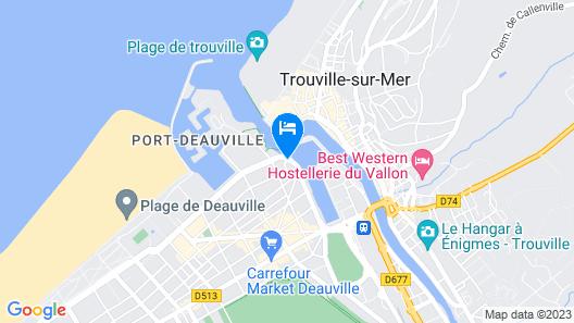 Novotel Deauville Plage Map