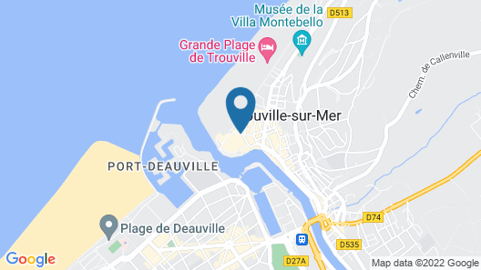 Cures Marines Trouville Hôtel Thalasso & Spa-MGallery by Sofitel Map