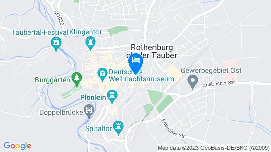 Prinzhotel Rothenburg Map