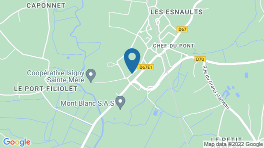 5 Bedroom Accommodation in Chef du Pont Map