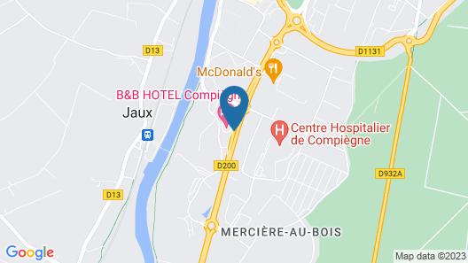 Kyriad Compiegne Map