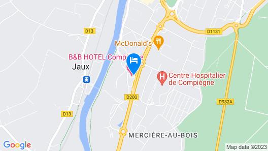 B&B Hotel Compiègne Map