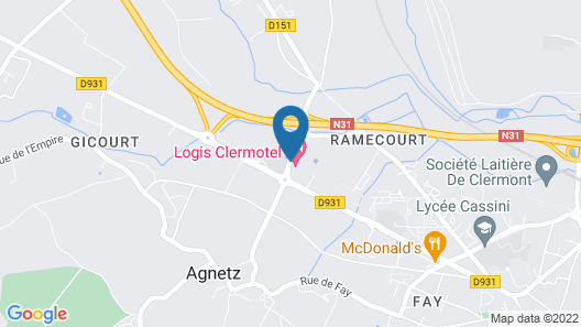 Logis Clermotel Map