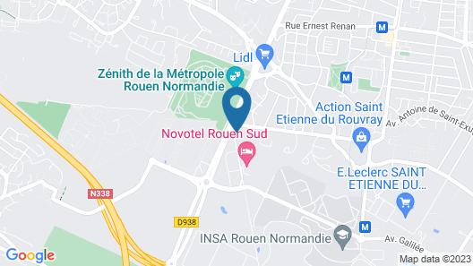 ibis budget Rouen Sud Zenith Map