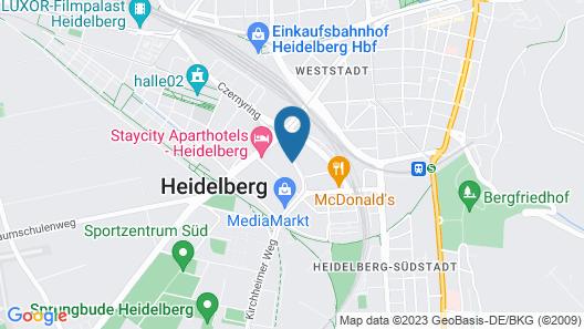 MEININGER Hotel Heidelberg Hauptbahnhof Map