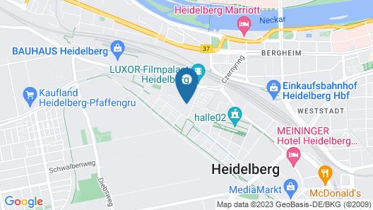 Qube Hotel Bahnstadt Map