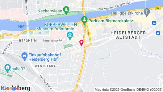Crowne Plaza Heidelberg City Centre, an IHG Hotel Map