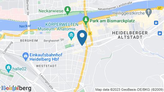 Crowne Plaza Heidelberg City Centre Map