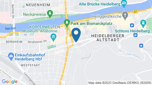Hotel Europäischer Hof Heidelberg Map