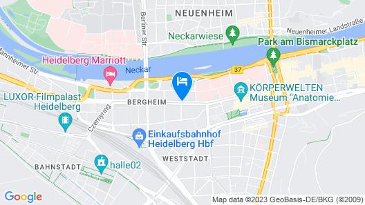 Qube Heidelberg Map