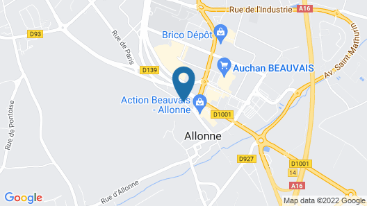 B&B Hotel Beauvais Map