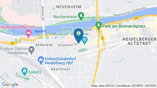 Leonardo Hotel Heidelberg City Center Map