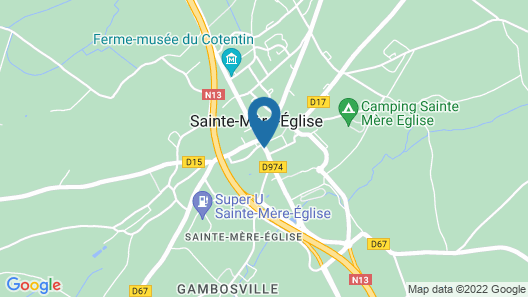 3 Bedroom Accommodation in Sainte-mère-eglise Map