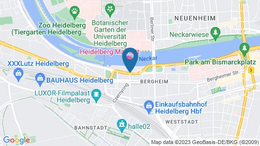 Heidelberg Marriott Hotel Map