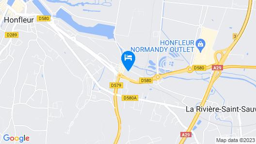 Motel Les Bleuets Map