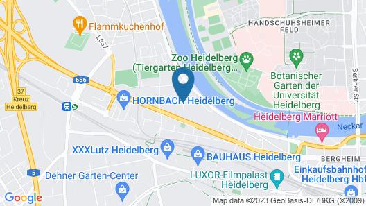 Hotel Chester Heidelberg Map