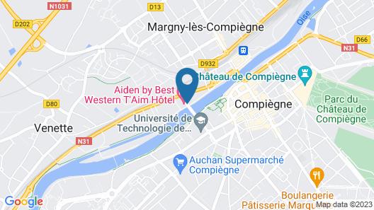 Aiden by Best Western @ T'aim Hotel Compiègne Map