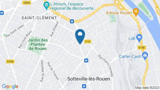 Séjours & Affaires Rouen Normandie Map
