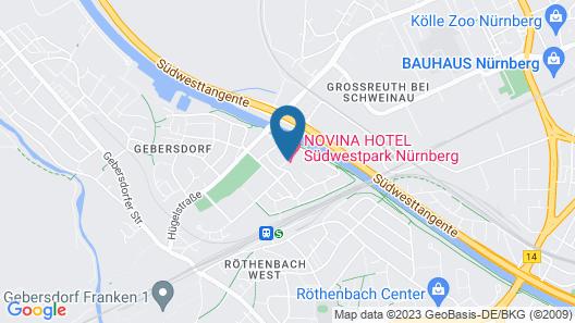 NOVINA HOTEL Südwestpark Nürnberg Map