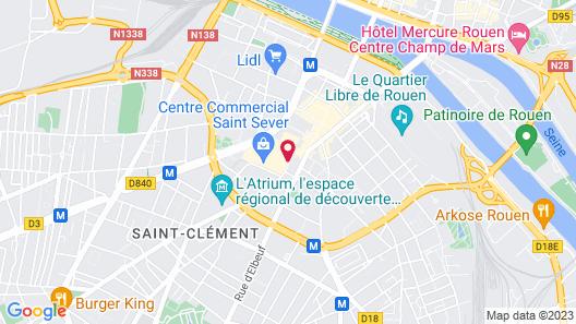 B&B Hotel Rouen Centre St Sever Map
