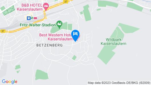 Best Western Hotel Kaiserslautern Map
