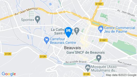 Chambres d hôtes Au coeur de Beauvais Map